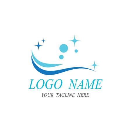 cleaning clean service logo icon vector template
