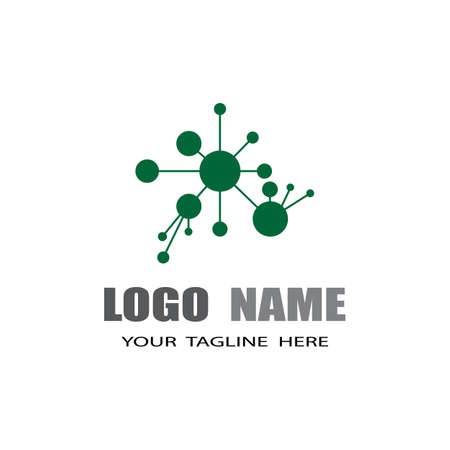 Molecule symbol logo template vector illustration design
