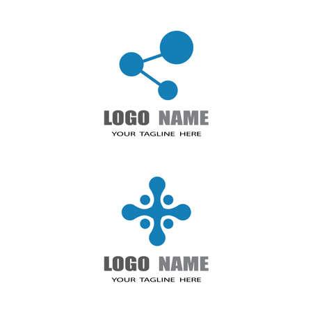 Molecule symbol logo template vector illustration design