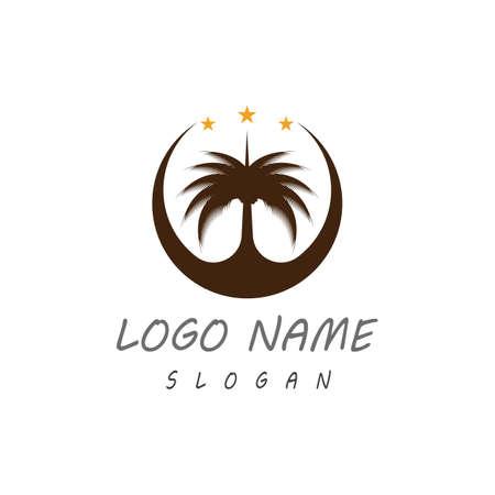 Date tree icon vector illustration logo template Logo