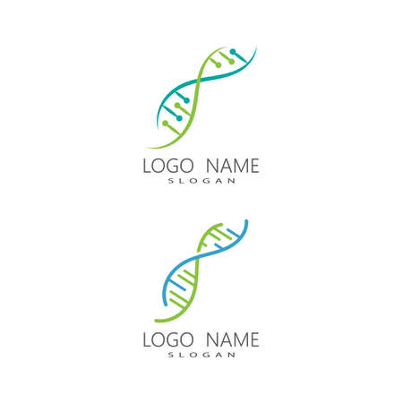 DNA gene Logo Template vector symbol illustration
