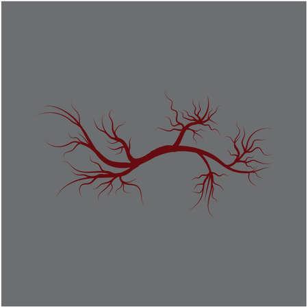 Veins Template vector symbol medical design