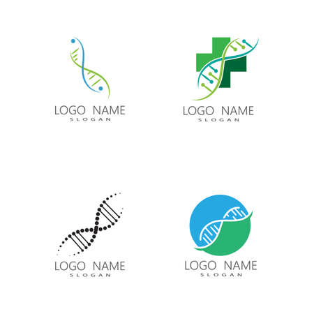 DNA gene Logo Template vector symbol illustration Logos