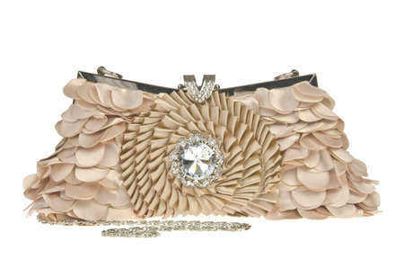 The women clutch bag on white background