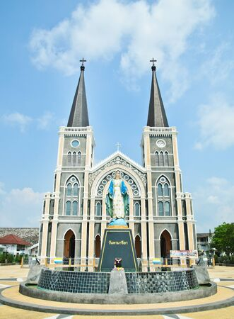 The Cathedral of The Immaculate Conception Chanthaburi Stock Photo