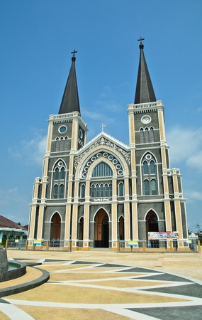 The Cathedral of The Immaculate Conception Chanthaburi Stock Photo - 13029354