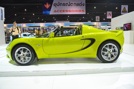 BANGKOK - MARCH 30: Lotus car on display at The 33th Bangkok International Motor Show on March 30, 2012 in Bangkok, Thailand Stock Photo - 13365171