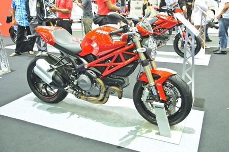 BANGKOK - MARCH 30: Ducati Monster Motorcycle on display at The 33th Bangkok International Motor Show on March 30, 2012 in Bangkok, Thailand.