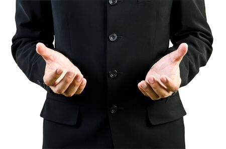 Businessman hand holding blank Stock Photo - 13402467