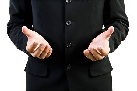 Businessman hand holding blank Stock Photo - 13402467