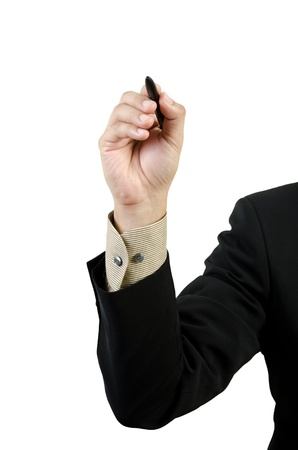 businessman hand drawing Stock Photo
