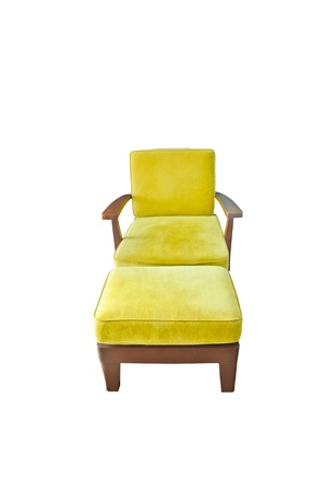 modern yellow chair isolated on white Stock Photo