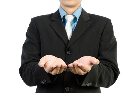 Businessman hand holding blank Stock Photo - 13802013