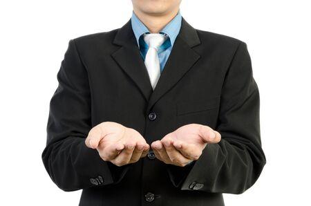 Businessman hand holding blank Stock Photo - 13802013
