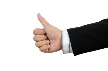 Thumb up isolated on white background Stock Photo - 15248582