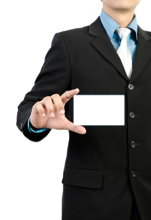 businessman hand holding  concept graphic business card Stock Photo
