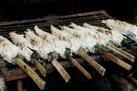 snakehead: salted grilled snakehead fish with spices an herbs