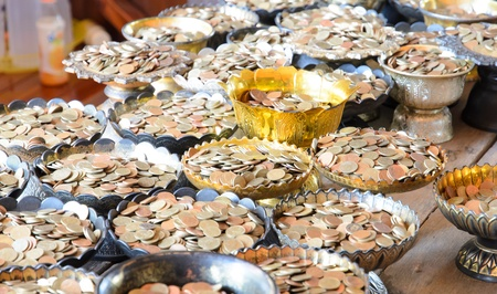 bucket of money: Bucket with money
