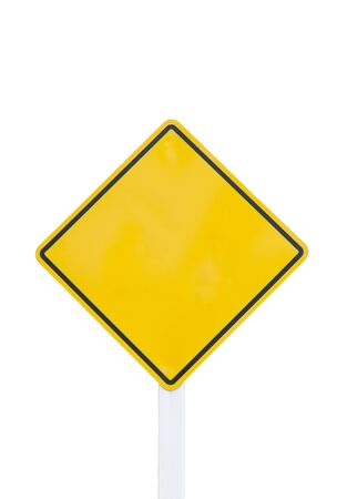 empty  traffic sign on white background Stock Photo