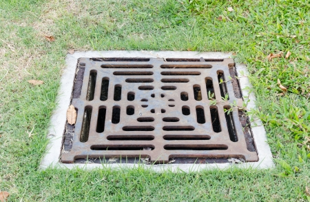 drain on filed,sewer cover