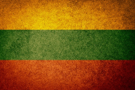 Grunge Flag of Lithuania photo