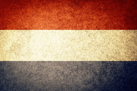 Grunge Flag of Netherland photo