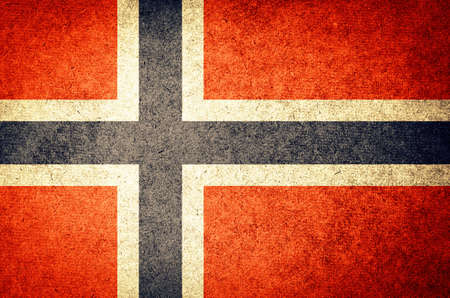 Grunge Flag of Norway photo