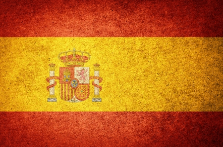 Grunge Flag of Spain photo