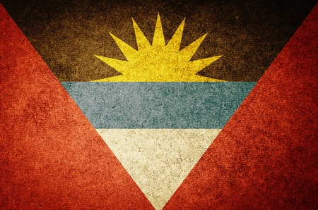 antigua flag: Grunge Flag of  Antigua and Barbuda