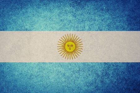 Grunge Flag of  argentina photo