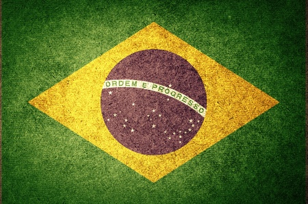 Grunge Flag of brazil photo
