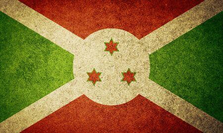 burundi: Grunge Flag of burundi Stock Photo