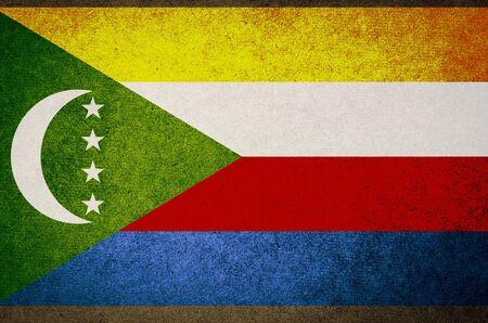 comoros: Grunge Flag of comoros Stock Photo