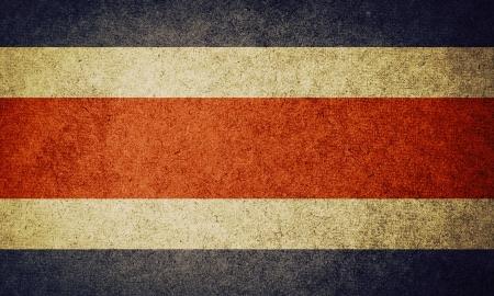 costa rican flag: Grunge Flag of costa rica
