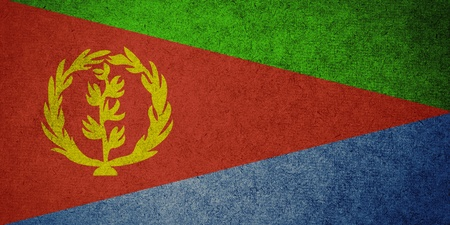 eritrea: Grunge Flag of Eritrea Stock Photo