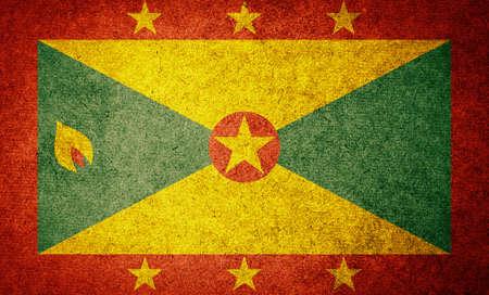 grenada: Grunge Flag of Grenada