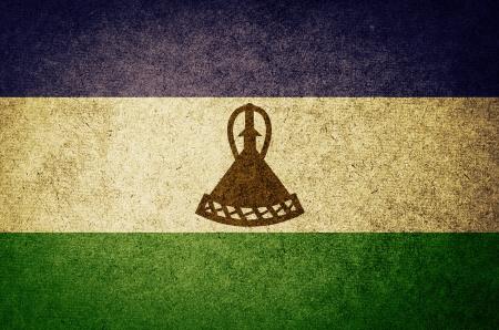 LESOTHO: Grunge Flag of lesotho