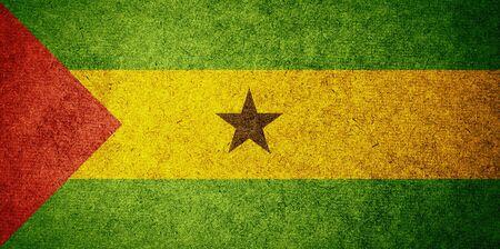 tomo: Grunge Bandiera di Sao Tome e Principe