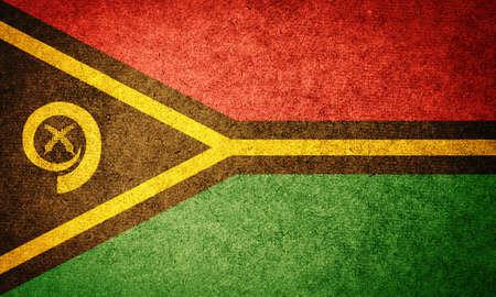 vanuatu: Grunge Flag of Vanuatu Stock Photo