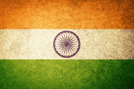 Grunge Flag of India photo