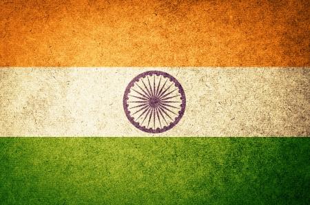 indische muster: Grunge Flag of India Lizenzfreie Bilder
