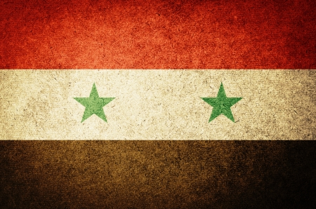 middle east crisis: Grunge Flag of Syria