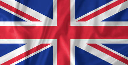 Great Britain waving flag photo