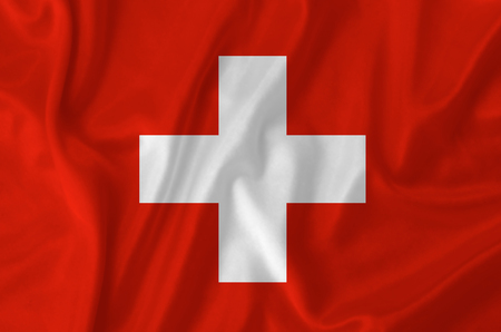 Switzerland waving flag photo