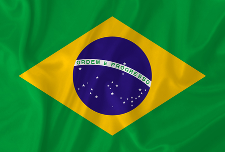 Brazil waving flag photo