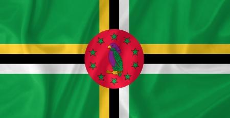 Dominica waving flag photo