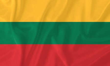 lithuania: Lithuania waving flag Stock Photo