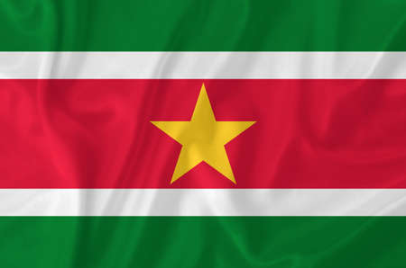 suriname: Suriname zwaaien vlag