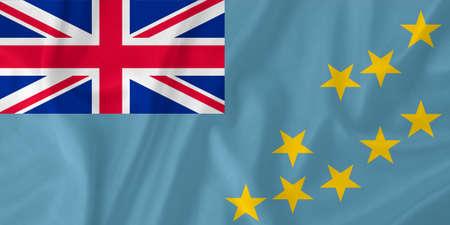tuvalu: Tuvalu waving flag Stock Photo