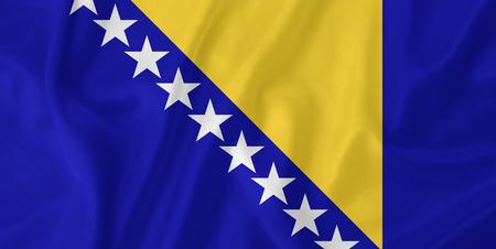 bosnia and herzegovina: Bosnia and Herzegovina waving flag